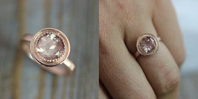Unique Oregon Sunstone Engagement Rings