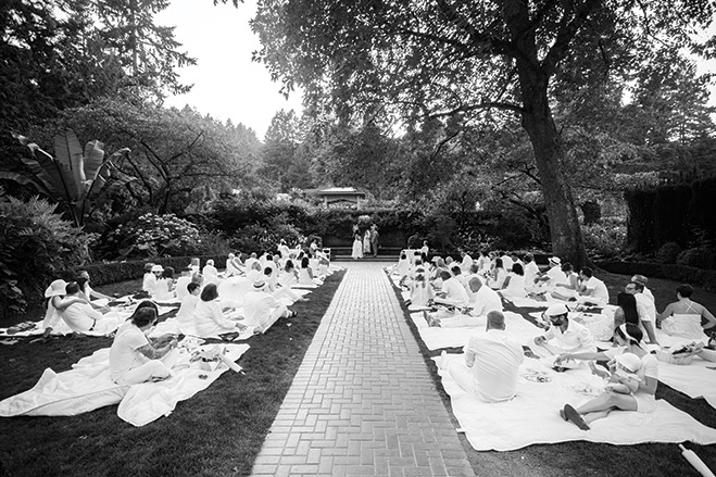 Picnic In The Park An All White Rose Garden Wedding