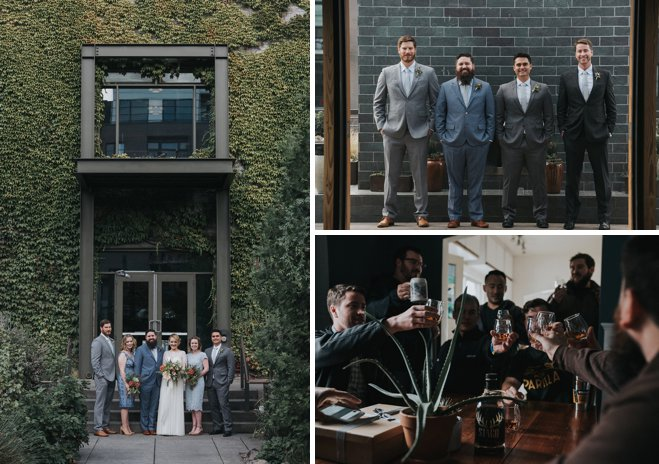Blue Warehouse Wedding
