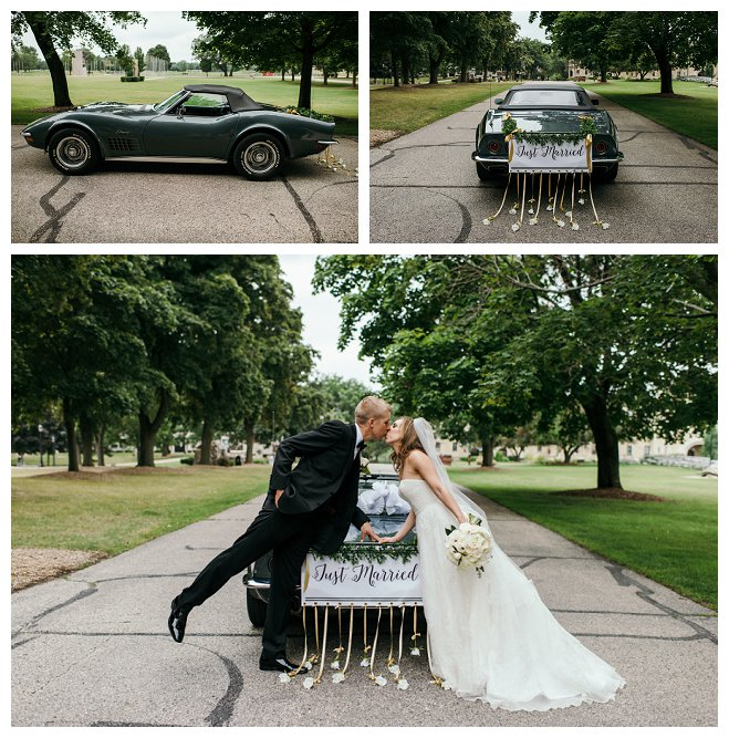 strudio 29 photography design ren davis bride groom wedding marriage country club golf corvette bouquet bridesmaid dress gown wisconsin doughnut