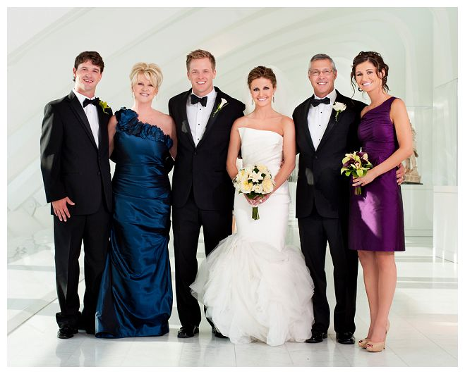 family grouping wedding photography bride groom parent party ceremony reception front room photography