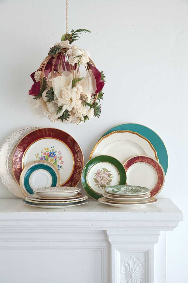 Fashion Plates: Vintage and Fine Dishware for Your Reception | California Wedding Day magazine | Bridal Planning Resource